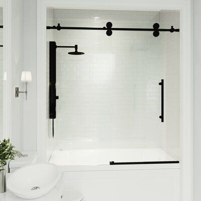 Bathroom some ideas, bathroom remodel, bathroom decor and master bathroom organization! Master Bathrooms may be beautiful too! From claw-foot tubs to shiny fixtures, these are the master bathroom that inspire me the most. Shower Sliding Glass Door, Frameless Shower Doors, Bathtub With Glass Door, Glass Bathroom Door, Small Bathroom With Tub, Sliding Doors, Designers Guild, Black Bathtub, Bathtub Doors