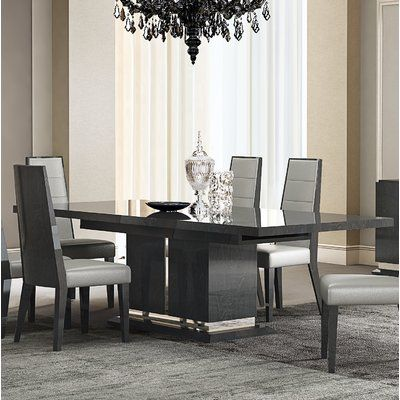 Orren Ellis Izquierdo Extendable Dining Table Wayfair Modern Dining Room Set Glass Dining Room Table Dining Table Marble