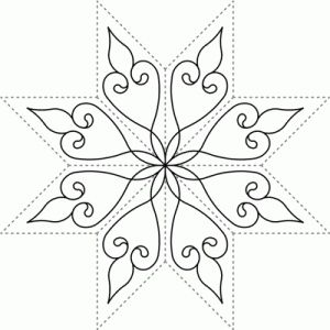 Snowflake | стежка | Pinterest | Free motion quilting, Machine ... : snowflake quilting stencil - Adamdwight.com