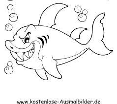 Ausmalbild Haifisch Mit Zahnen Ausdrucken Ausmalbilder Fische Ausmalen Fische Zeichnen