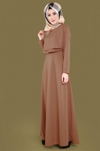 Onu Pileli Tesettur Elbise Ukb2087 S Taba Thumbnail Elbise Elbise Modelleri Moda Stilleri