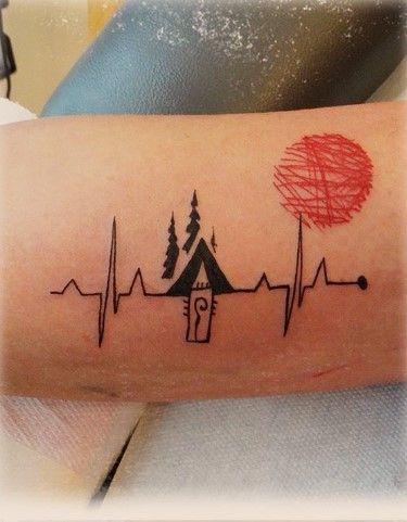 Heartbeat Lines Tattoo : heartbeat, lines, tattoo, Heartbeat, Tattoo, Design, Lines, Design,, Tattoo,, Designs