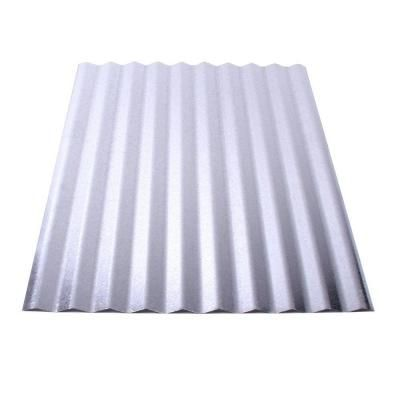 Fabral 12 Ft Galvanized Steel Roof Panel 4736008000 The Home Depot Metal Roof Panels Corrugated Metal Roof Corrugated Metal Roof Panels