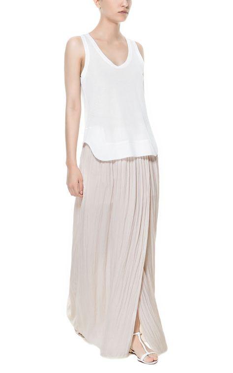 d9400ad72a LONG FLOWING FABRIC SKIRT from Zara