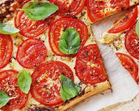 Tarte aux tomates et cheddar fort