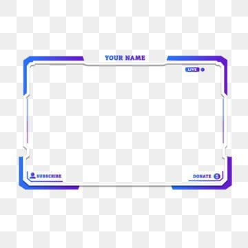 Twitch Live Gaming Stream Overlay Face Camera Border Png And Psd Overlays Twitch Clip Art Borders