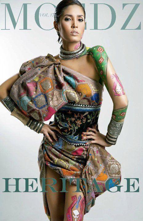 fashion stylist - fashion look -fashion magazine - styling - heritage - Indonesian - tenun - ikat - body painting