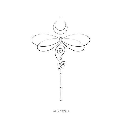 Disponível no Site para compra! SIGNIFICADO: o #unalome que simboliza o amadurecimento (iluminação) combinado com a #Libelula, que assim…