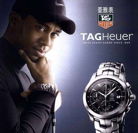 Tiger Woods Ad for TAG Heuer @ TAG-Heuer-Watches .com