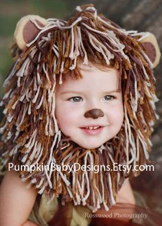 Diy lion headdress with yarn scraps and ribbon easy halloween lion costume lion tutu lion mane wizard of oz halloween costume cowardly lion infant costume toddler costume girl costume solutioingenieria Gallery