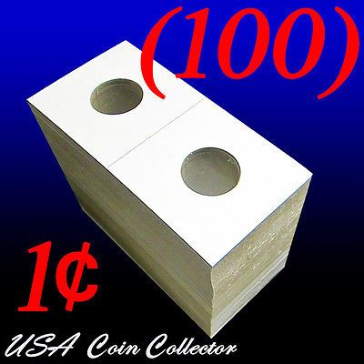 Free USA Shipping New Dime 100 Cardboard Flips 2x2 Coin Holders