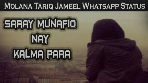 Molana Tariq Jameel Status For Whatsapp Saray Munafiq Nay