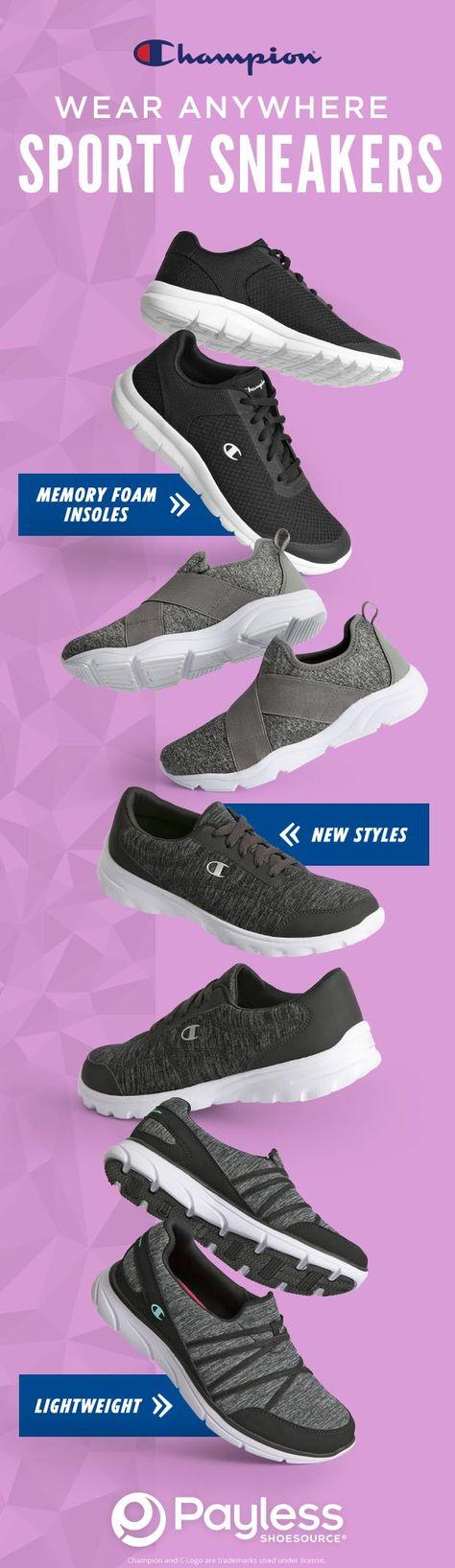 champion, payless shoesource, women shoes