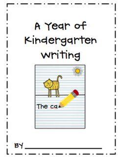Cute idea for Kindergarten class to track progress of writing skills.