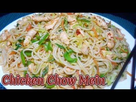 Tasty Spaghetti recipe_chicken chow mein _chicken vegetable spaghetti - YouTube