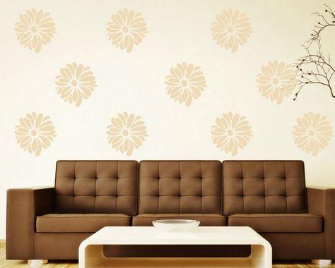 wallpaper dinding ruang tamu minimalis pink motif bunga