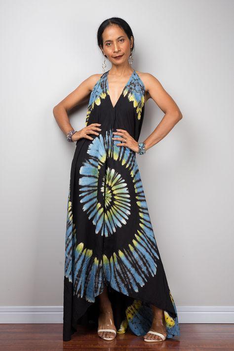 Loose fit Hand Tie Dye Kaftan CKF14 Boho Summer Beach kaftan Caftan Oversized Kaftan maxi Dress Resort dress Evening dress