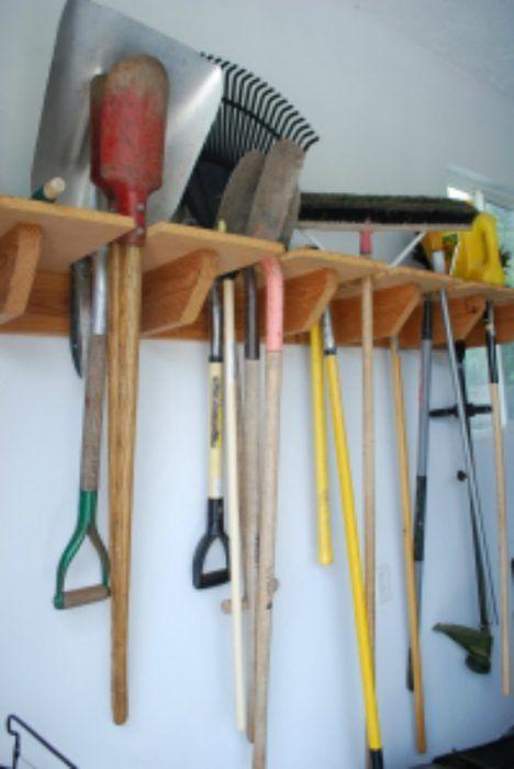 40 Diy Garden And Yard Tool Storage Ideas Garden Tool Rack Garden Tools Garden Tool Holder