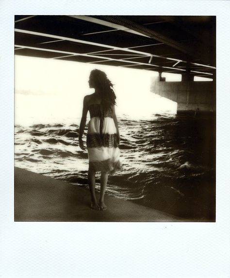 Under the bridge by Cyril Auvity, Photography, Polaroid, instant film