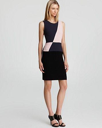 7f169d25826 DKNY Color Blocked Sleeveless Sheath Dress