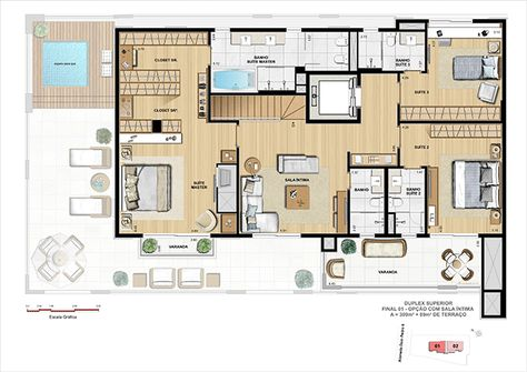 Cobertura Duplex Superior Opcao Sala Intima Casas Maravilhosas