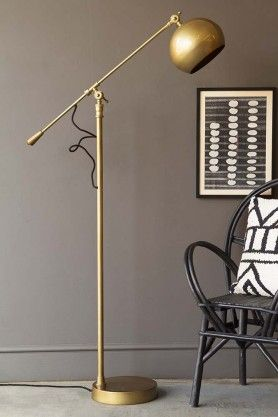 Angled Brass Dome Floor Lamp Modern Floor Lamps Unusual Floor Lamps Brass Floor Lamp