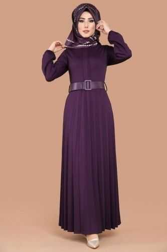 Modaselvim Piliseli Tesettur Elbise Modelleri Moda Tesettur Giyim Elbise Modelleri Elbise Moda Stilleri