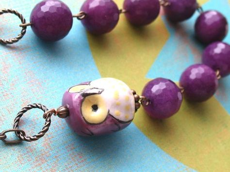Purple jade necklace. Found on Etsy.