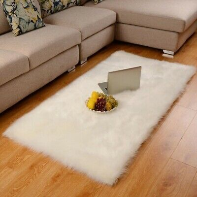 Sponsored Link Fluffy Rugs Shaggy Area Carpet Floor Mat Faux Wool Seat Pad Sof In 2020 Fluffy Rug Area Carpet Carpet Flooring