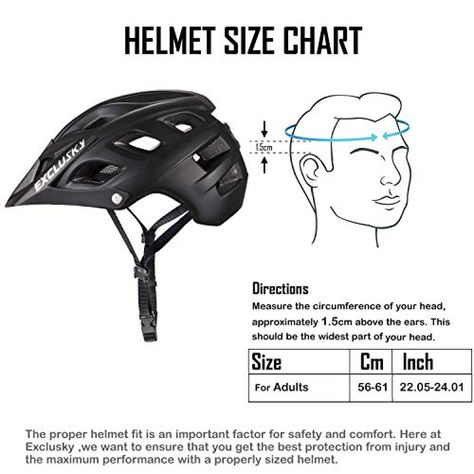 Exclusky Mountain Bike Helmet With Detachable Visor For Adult