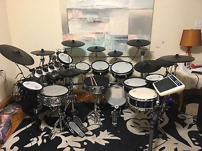 Roland Td 20 Electronic Drum Set Custom With Td 15 And Td 9 With