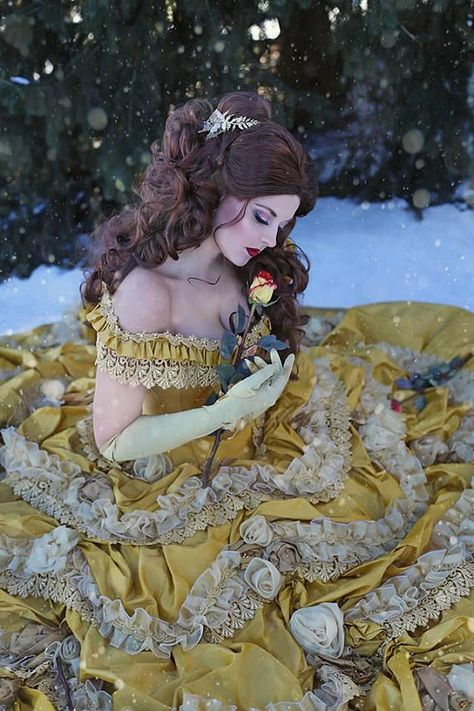 "Beauty and the Beast Wedding Dress - Couture Belle Dress Corset Faitytale Gown - Disney Wedding  "" B"