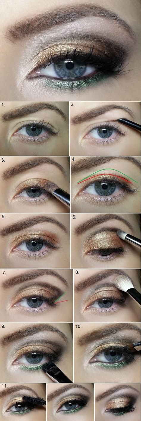 Correct Sagging Eyelids with This Amazing Makeup Idea - Tutorial - AllDayChic