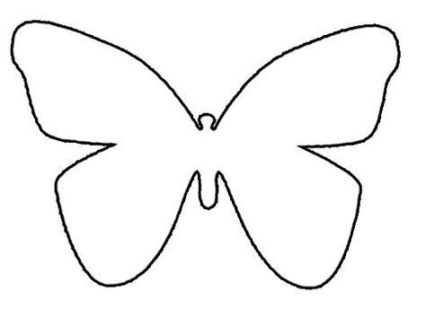 Butterfly Template Free 592 Coloring Page Template Coloring Pages