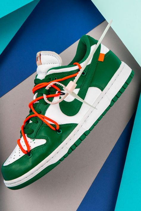 "Off-White x Nike Dunk Low ""Pine Green"""