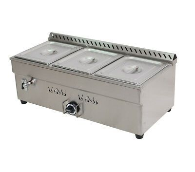 Ad Ebay Url 3 Pan Lp Gas Bain Marie Buffet Food Warmer Steam Table Commercial Kitchen Tool In 2020 Food Warmers Buffet Food Steam Tables