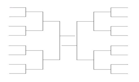 Printable 16 Team Bracket Single Elimination Tournament Basketball Bracket Templates Printable Free Sports Brackets