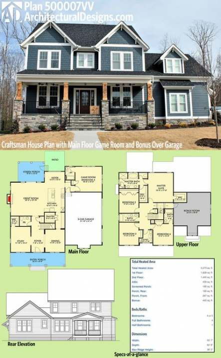 Best House Layout 4 Bedroom Craftsman Style Ideas Craftsman House Plan Craftsman House Plans Dream House Plans