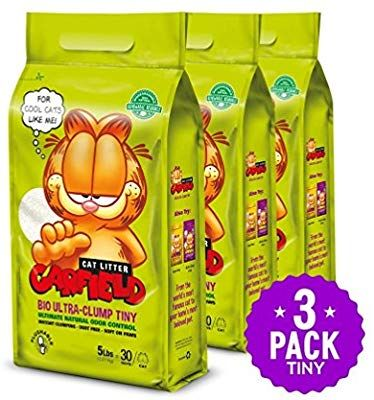Amazon Com Garfield Cat Litter All Natural Fast Clumping Perfect For Multi Cat Homes Tiny Grains 15 Lb Gold Flushable Cat Litter Cat Litter Garfield Cat
