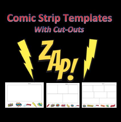 Make Your Own Comic Books - Page Design Templates and Tools for - comic strip template