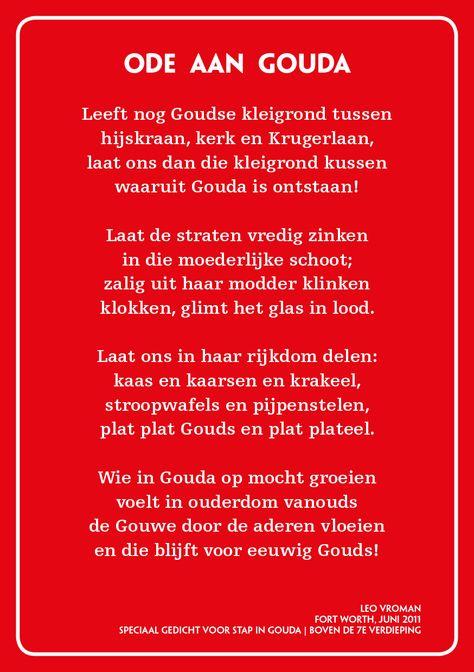 Ode Aan Gouda Leo Vroman In 2019 Gouda Boeken En Gedichten