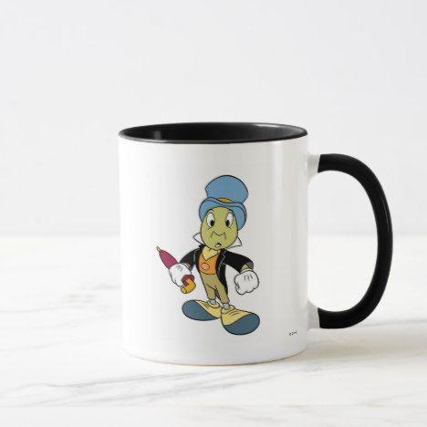 Disney Pinocchio Jiminy Cricket Standing Mug Zazzle Com Jiminy Cricket Mugs Pinocchio