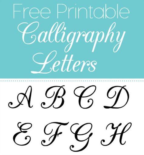 Free Printable Calligraphy Letters Free Printable Alphabet