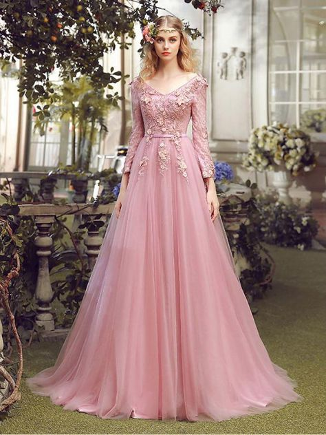 a874e83f226 On Sale A line Evening Prom Dresses Long Pink Dresses With Lace Up Sequin  Sweep Train Suitable Evening Dresses