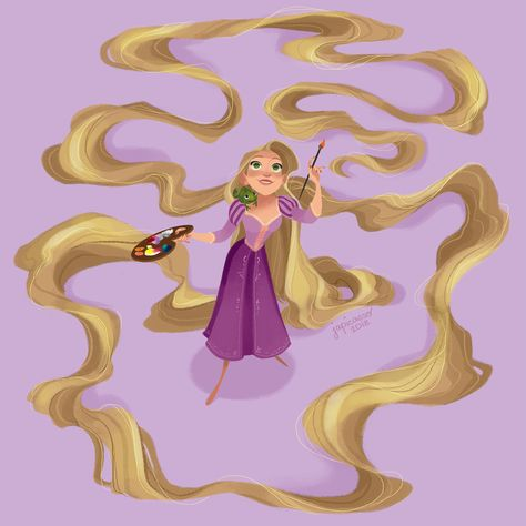 Disney Rapunzel I'll paint the walls some more, I'm sure there's room somewhere