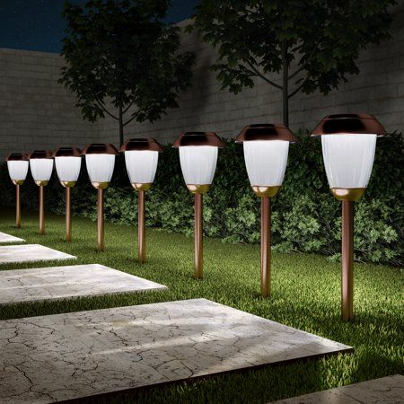 Patio Garden Solar Path Lights Outdoor Path Lighting Path Lights