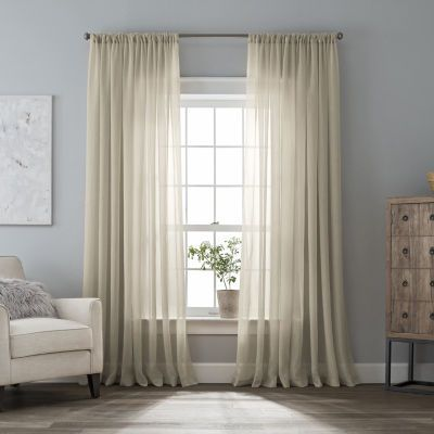 Buy Home Expressions Crushed Voile Rod Pocket Sheer Curtain Panel