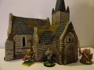 28mm on the cheap: Fast and cheap fantasy buildings