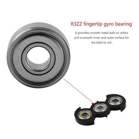Metal Hand Bearing Spinner   Aluminum SteelBall Finger Gyro Silver