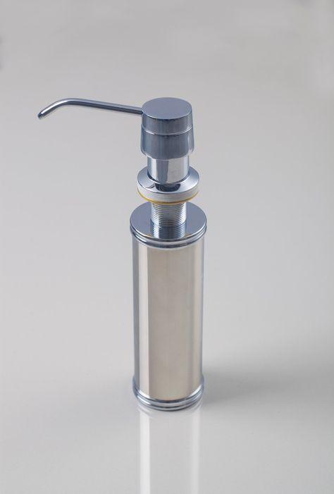Perfect Pair Glass Clear Soap Dispenser Set With Chrome Caddy Kitchen Soap Dispenser Glass Soap Dispenser Soap Dispenser